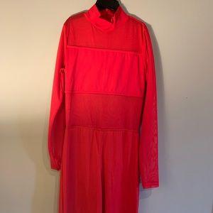 Balera Red Mesh Long Sleeve Contemp. Costume